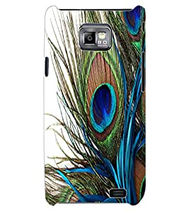 ColourCraft Peacock Feather Design Back Case Cover for SAMSUNG GALAXY S2 I9100