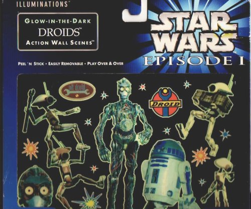 Star Wars Episode 1 Illuminations Glow-in-the-dark Droids Action Wall Scene - 1