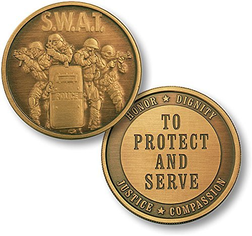 SWAT 4 Protect Bronze Antique Challenge Coin