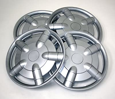 TuningPros WSC-021S15 Hubcaps Wheel Skin Cover 15-Inches Silver Set of 4