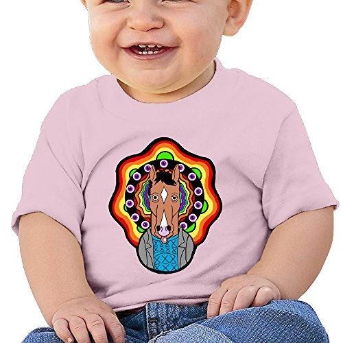 Bro-Custom BoJack Horseman Animation Boy's & Girl's Funny T-shirt Pink Size 18 Months