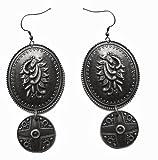 Molcha Engraved Vintage Metal Earrings For Women _8041B
