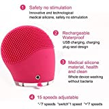 BC CE, RoHS and FCC Standard Sonic Facial Brush, Cleanser & Massager BC-1329 Rose Color