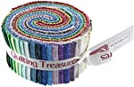 "Matrix 35 Strips 2.5"" Jelly Roll Fabric Quilting Treasures"