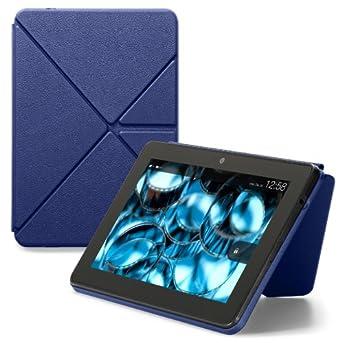 Amazon Origami Lederhülle mit Standfunktion für Kindle Fire HDX 7 (nur geeignet für den neuen Kindle Fire HDX 7), Blau