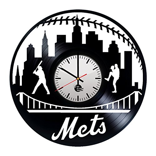 New-York-Mets-Handmade-Vinyl-Record-Wall-Clock-Fun-gift-Vintage-Unique-Home-decor-Art-Design-Retro-Interier