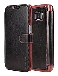 AceAbove Samsung Galaxy S7 Edge Wallet Case, Premium PU Leather Wallet Cover with [Card Slots] for Samsung Galaxy S7 Edge (2016) - Black