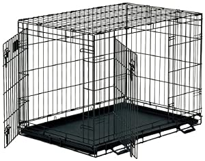 Midwest Life Stages Double-Door Folding Metal Dog Crate from Midwest Homes for Pets