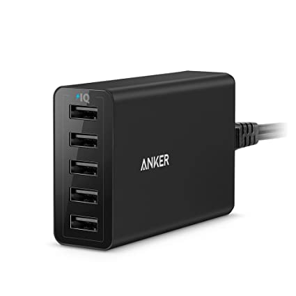 Anker PowerPort 5 (40W 5-Port USB Charging Hub) Multi-Port USB Charger for iPhone 6 / 6 Plus, iPad Air 2 / mini 3, Galaxy S6 / S6 Edge and More