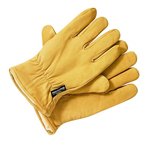 Dickies, Guanti Uomo Lined Leather Gloves, Marrone (Tan), L