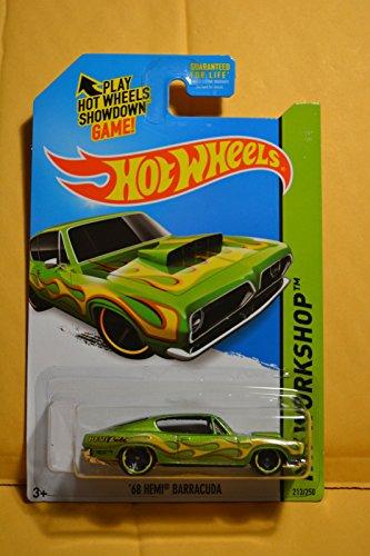 Hot Wheels, 2015 HW Workshop, '68 Hemi Barracuda [Green] Die-Cast Vehicle #213/250 - 1