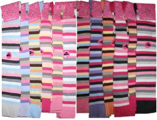 She Stripe Over Knee Socks 4-7 Various Colours