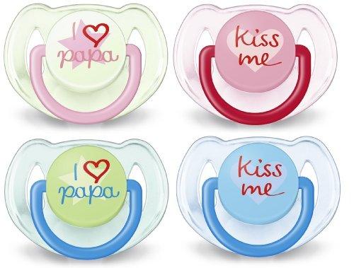Philips Avent SCF172/70 Succhietti Love - con Tettarelle ortodontiche, senza BPA (6-18m) - 2 pezzi