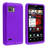 Silicone Skin Case for Motorola Droid Bionic XT875, Purple