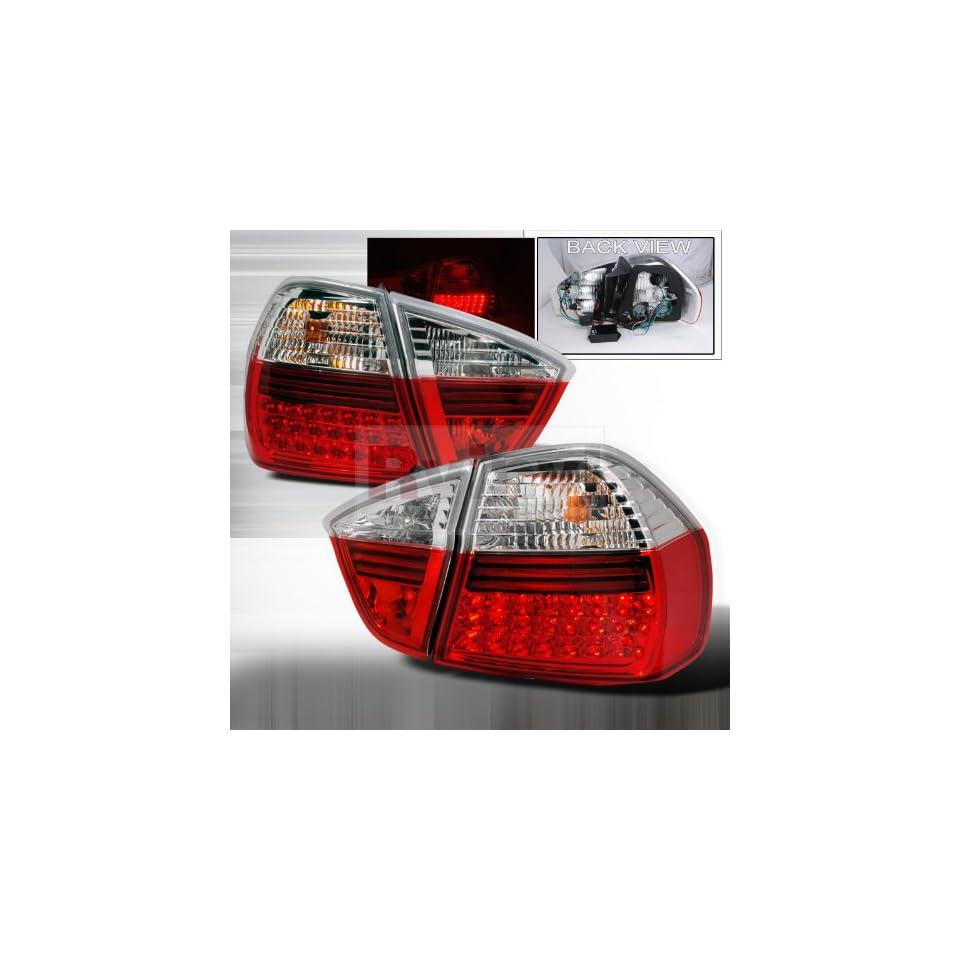 BMW E90 3 Series Sedan 330xi 330i 325xi 325i 335i 328i LED Tail Lights   Red