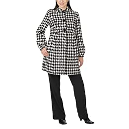 Liz Lange® for Target® Houndstooth Button Front Coat - Black/ White