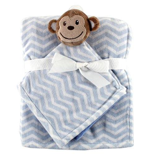 Hudson Baby Plush Security Blanket Set, Monkey