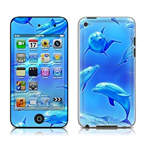 DecalGirl iPod Touch 4G Vinyl Skin, Swimming Dolphins