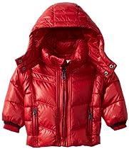Diesel Baby-boys Infant Jasvyb Nylon Down Hooded Jacket, Red, 24 Months