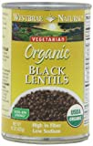 Westbrae Natural Organic Black Lentils, 15 Ounce Cans (Pack of 12)