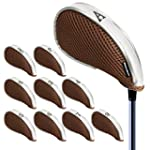 Andux Mesh Golf Iron Head Covers with...