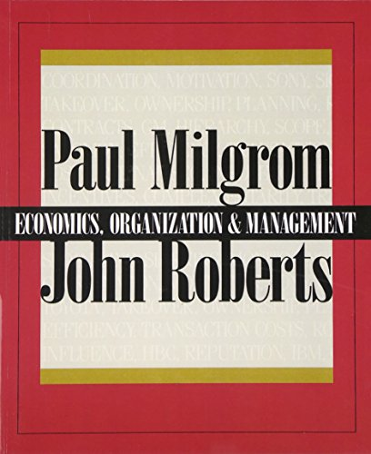 Economics, Organization and Management:United States Edition