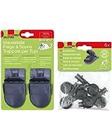 Swissinno 1 003 223 SuperCat 2 Pièges à souris + 6 Appâts de recharge