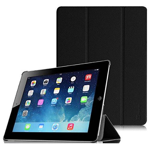 Fintie iPad 2 / 第3世代 iPad / 第4世代 iPad 専用 保護ケース 三つ折スタンドタイプ 高級PUレザー 超薄型 最軽量 オートスリープ機能付き スマートケース カバー (ブラック)