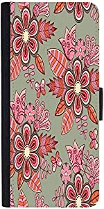 Snoogg Abstract Floral Backgrounddesigner Protective Flip Case Cover For Appl...