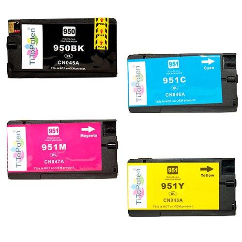 *TiToPaten®* 4 Druckerpatronen kompatibel für HP 950XL 951XL SET