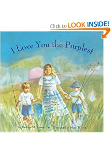 picture of Mother's Day craft or activity using I love you the Purplest