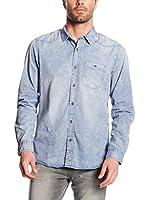 Tom Tailor Denim Camisa Hombre (Azul)