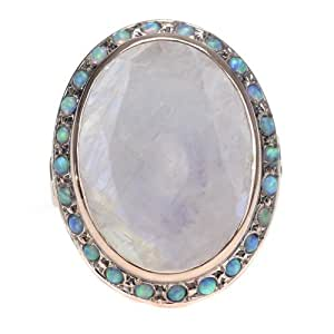 Amazon.com: Arik Kastan Moonstone and Opal Ring: Jewelry
