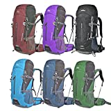 OXking 50L アウトドア 大容量 軽量 ハイキング キャンプ バックパック 登山 バッグ 旅行 クライミング トレッキング 防災 リュックサック デイパック レインカバー付き