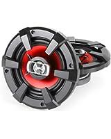 """Auna SBC-4121 - Paire de haut-parleurs auto 800W, enceintes pour voiture 10cm (4"""", 3 voies, système coaxial) - optique métal en rouge et noir (Import Allemagne)"""
