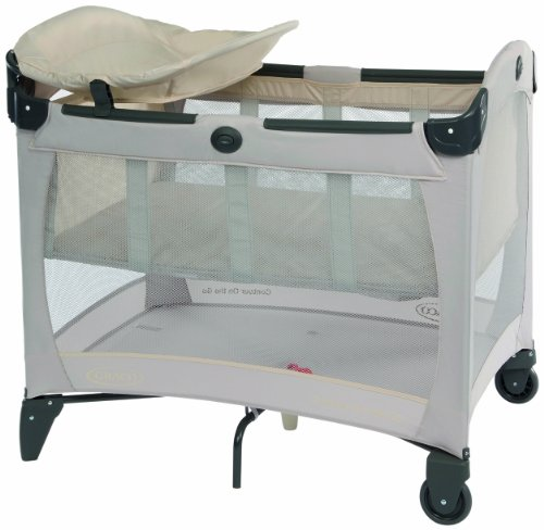 Graco Contour On The Go Travel Cot (Biscuit, 0 - 36 Months)
