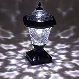 Westinghouse Adonia Pagoda Solar 4x4 Nominal Wood Post Cap Light (Black, 4 Pack)