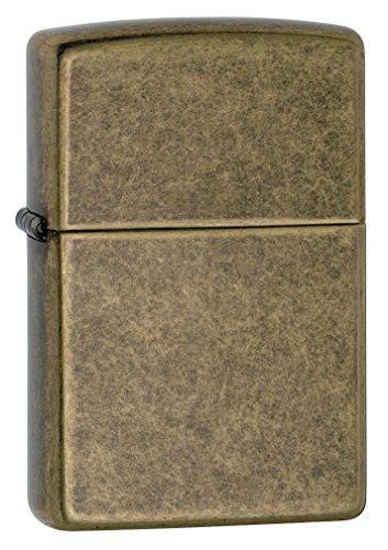 Zippo Windproof Antique Finish Brass Lighter, 201FB, New In Box