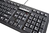Professional Grade Full-size Flexible Silicone Waterproof Keyboard (USB) (Black) | KBWKFC106-BK