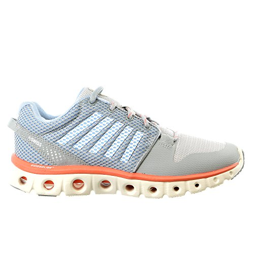 K-Swiss Women's X Lite Cross-Training Shoe, Quarry/Bright White/Living Coral, 8.5 M US