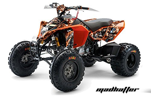 AMR Racing KTM 450, 525 and 505 ATV Quad, Graphic Kit - Madhatter: Orange (Ktm 525 Quad compare prices)