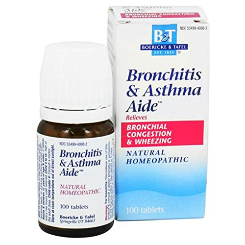Boericke And Tafel - Bronchitis And Asthma Aide 100 Tabs (Pack Of 2)