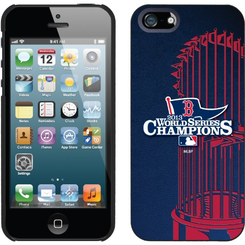 Special Sale Boston Red Sox - 2013 Champs design on a Black iPhone 5s / 5 Thinshield Snap-On Case by Coveroo