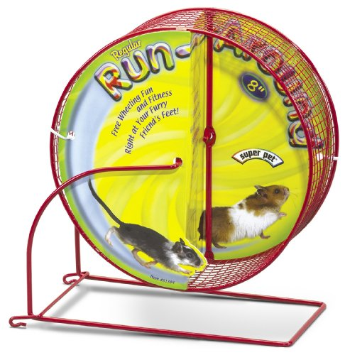 Super Pet Hamster Run-Around 8-Inch Regular Exercise Wheel, Colors Vary