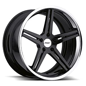 TSW Mirabeau Gloss Black Wheel with Machined Lip (19″x9.5″/5x112mm)