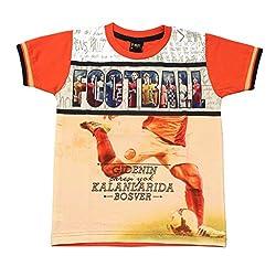 Romano Boys Orange Cotton T-Shirt