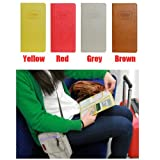 Versatile Candy Color Faux Leather Women Passport Holder Travel Organizer Bag-Yellow