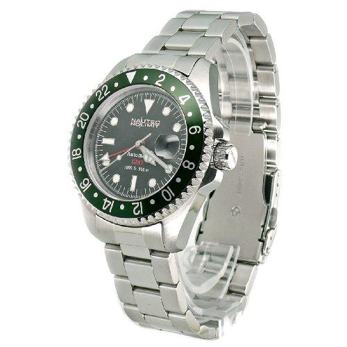 Nautec No Limit Herren-Armbanduhr Deep Sea DS AT-GMT/STSTGRBK 2