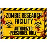(13x19) Zombie Research Facility Sign Poster Print