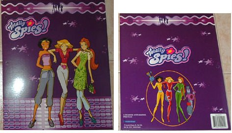 Totally Spies Pink Notebook Folder